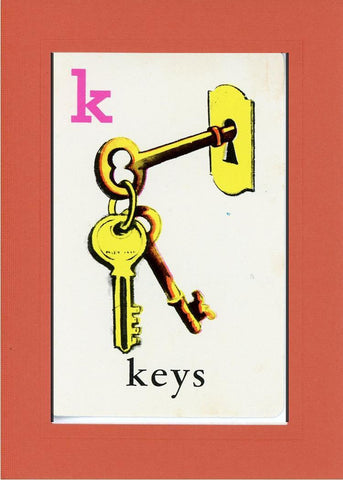 K is for Keys - PLYMOUTH CARD COMPANY  - 9