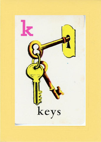 K is for Keys - PLYMOUTH CARD COMPANY  - 3