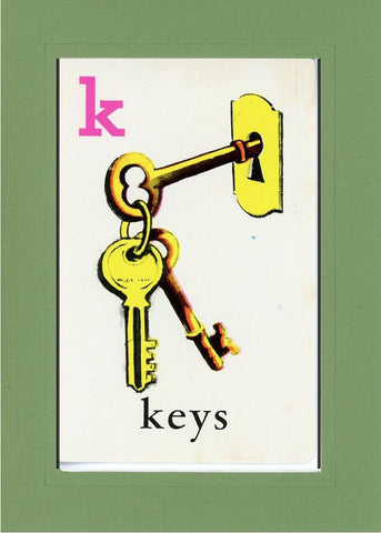 K is for Keys - PLYMOUTH CARD COMPANY  - 8