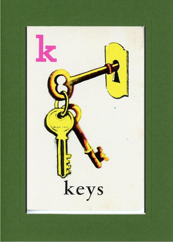 K is for Keys - PLYMOUTH CARD COMPANY  - 10