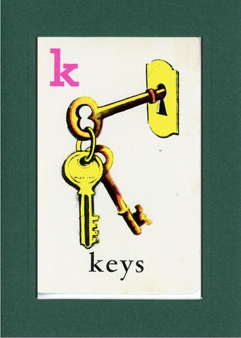 K is for Keys - PLYMOUTH CARD COMPANY  - 11