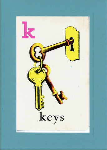 K is for Keys - PLYMOUTH CARD COMPANY  - 7