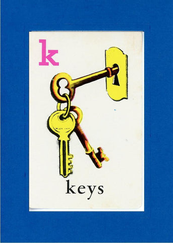 K is for Keys - PLYMOUTH CARD COMPANY  - 5