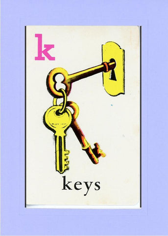 K is for Keys - PLYMOUTH CARD COMPANY  - 19