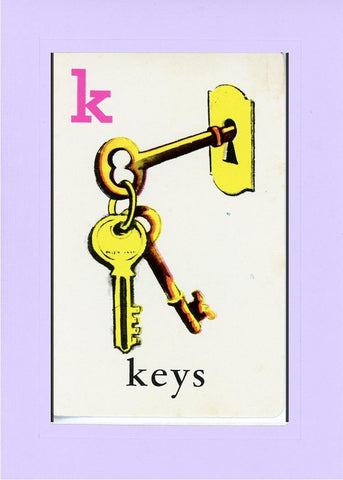 K is for Keys - PLYMOUTH CARD COMPANY  - 15