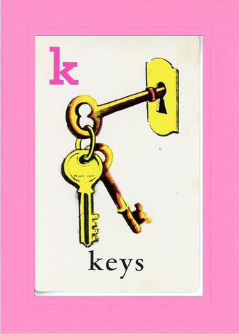 K is for Keys - PLYMOUTH CARD COMPANY  - 4