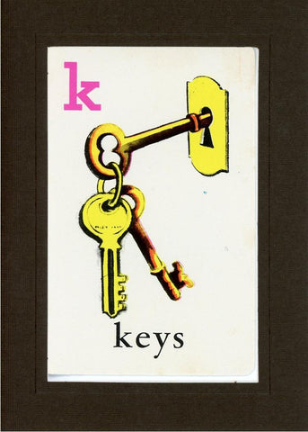 K is for Keys - PLYMOUTH CARD COMPANY  - 13