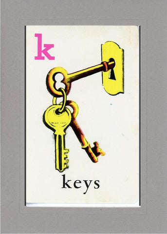K is for Keys - PLYMOUTH CARD COMPANY  - 14