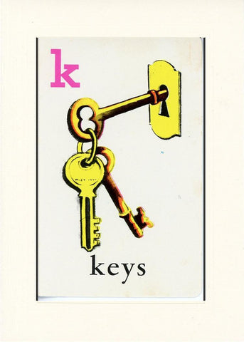 K is for Keys - PLYMOUTH CARD COMPANY  - 17