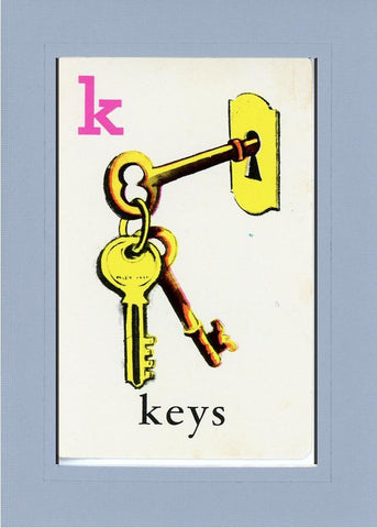 K is for Keys - PLYMOUTH CARD COMPANY  - 16