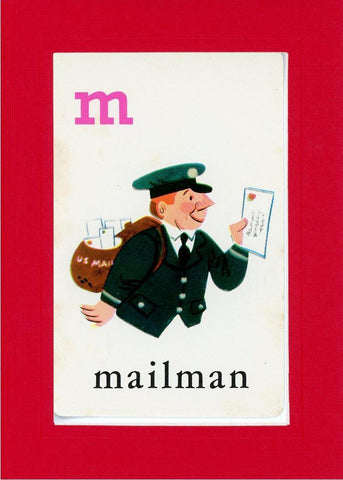 M is for Mailman - PLYMOUTH CARD COMPANY  - 6