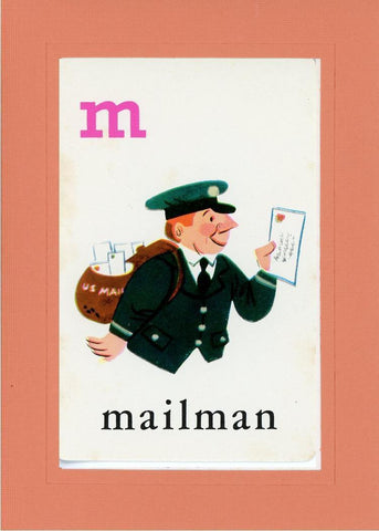 M is for Mailman - PLYMOUTH CARD COMPANY  - 10