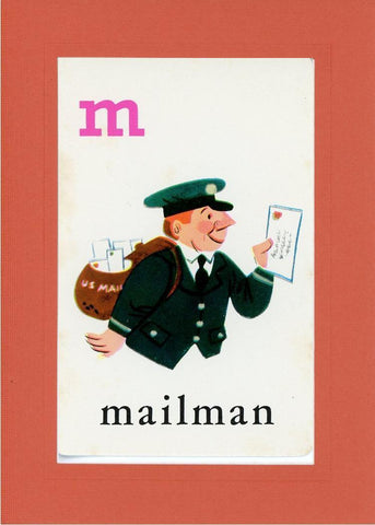 M is for Mailman - PLYMOUTH CARD COMPANY  - 8