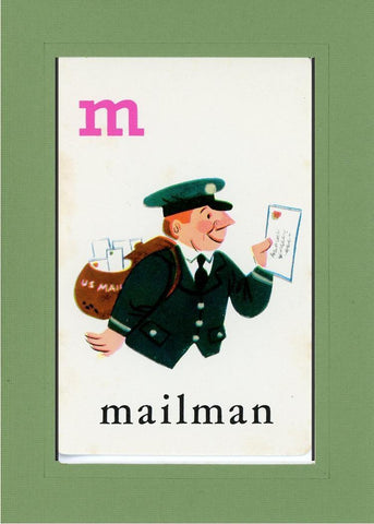 M is for Mailman - PLYMOUTH CARD COMPANY  - 7