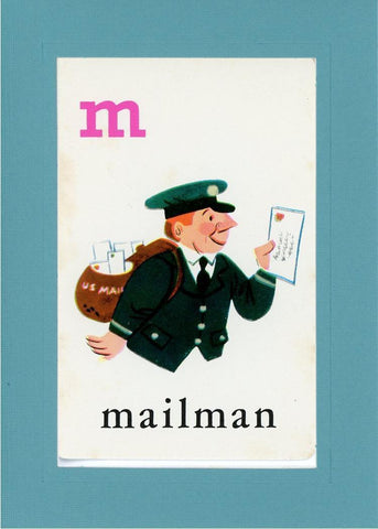 M is for Mailman - PLYMOUTH CARD COMPANY  - 11