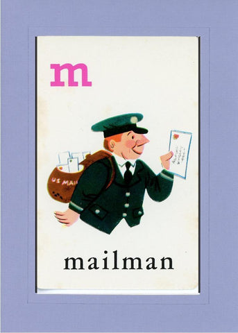 M is for Mailman - PLYMOUTH CARD COMPANY  - 17