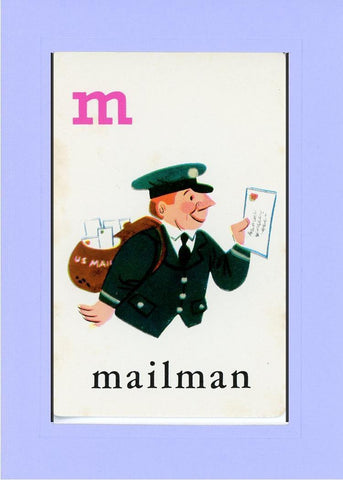 M is for Mailman - PLYMOUTH CARD COMPANY  - 18