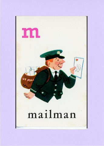M is for Mailman - PLYMOUTH CARD COMPANY  - 14
