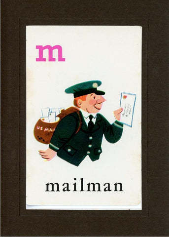 M is for Mailman - PLYMOUTH CARD COMPANY  - 12