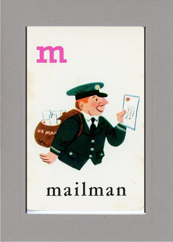 M is for Mailman - PLYMOUTH CARD COMPANY  - 13