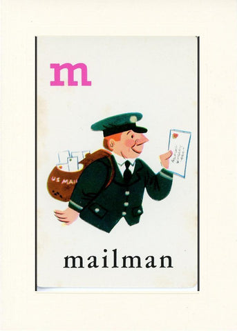 M is for Mailman - PLYMOUTH CARD COMPANY  - 16