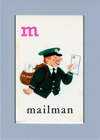 M is for Mailman - PLYMOUTH CARD COMPANY  - 15