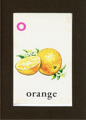 O is for Orange - PLYMOUTH CARD COMPANY  - 12