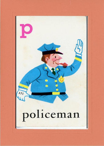 P is for Policeman - PLYMOUTH CARD COMPANY  - 10