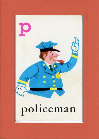 P is for Policeman - PLYMOUTH CARD COMPANY  - 7
