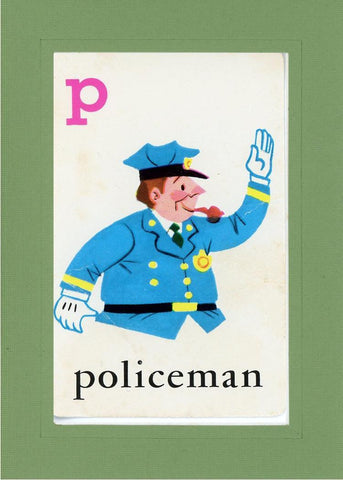 P is for Policeman - PLYMOUTH CARD COMPANY  - 6