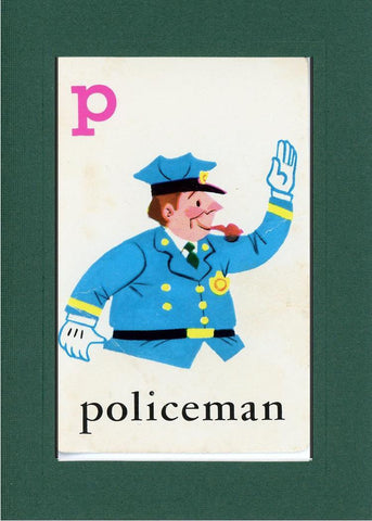 P is for Policeman - PLYMOUTH CARD COMPANY  - 9