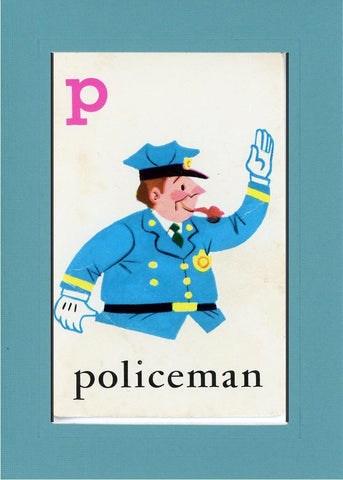 P is for Policeman - PLYMOUTH CARD COMPANY  - 11