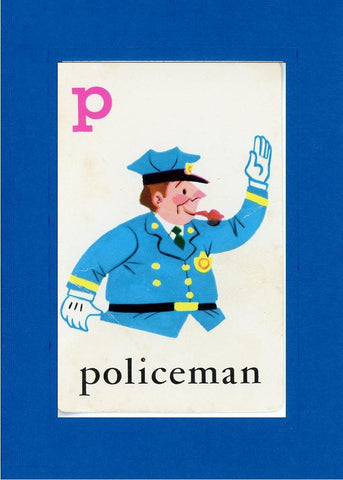 P is for Policeman - PLYMOUTH CARD COMPANY  - 4