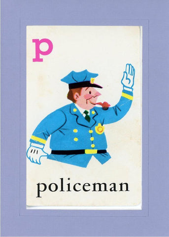 P is for Policeman - PLYMOUTH CARD COMPANY  - 17