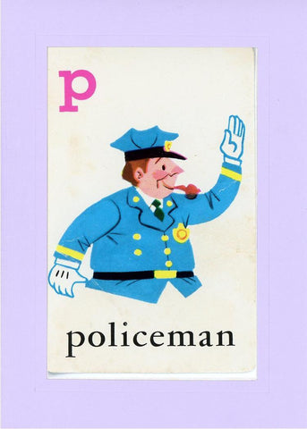 P is for Policeman - PLYMOUTH CARD COMPANY  - 14