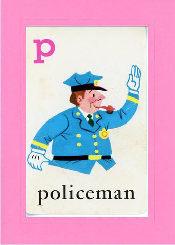 P is for Policeman - PLYMOUTH CARD COMPANY  - 3