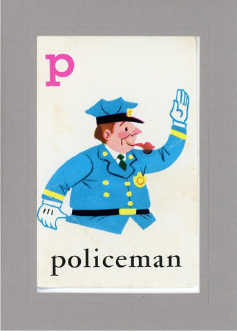 P is for Policeman - PLYMOUTH CARD COMPANY  - 13