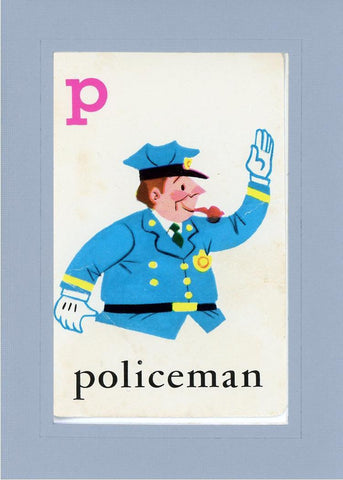 P is for Policeman - PLYMOUTH CARD COMPANY  - 15