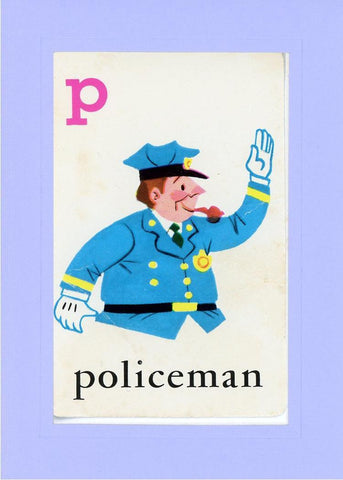 P is for Policeman - PLYMOUTH CARD COMPANY  - 18