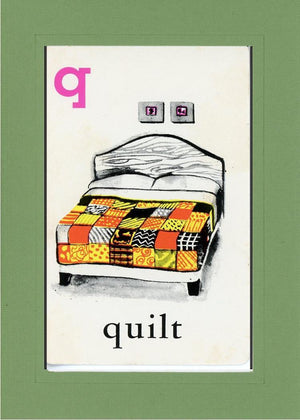 Q is for Quilt-Alphabet Soup-Plymouth Cards