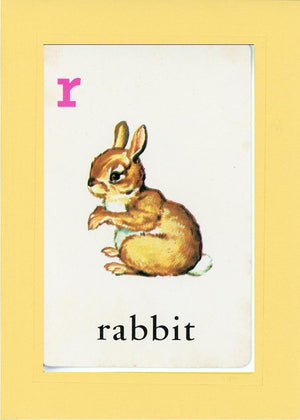 R is for Rabbit - PLYMOUTH CARD COMPANY  - 3
