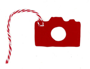 Camera Gift Tag Red