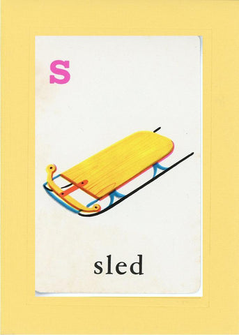 S is for Sled - PLYMOUTH CARD COMPANY  - 3