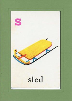 S is for Sled - PLYMOUTH CARD COMPANY  - 6