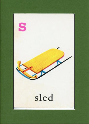 S is for Sled - PLYMOUTH CARD COMPANY  - 8