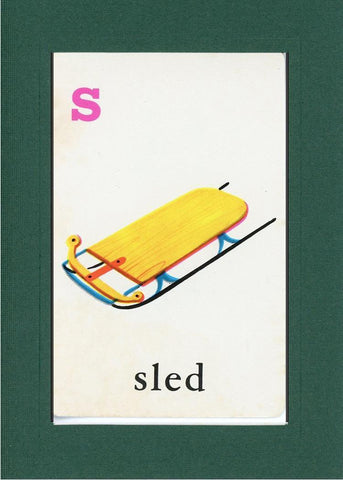 S is for Sled - PLYMOUTH CARD COMPANY  - 9
