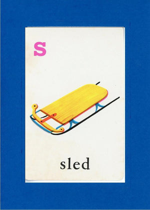 S is for Sled - PLYMOUTH CARD COMPANY  - 10