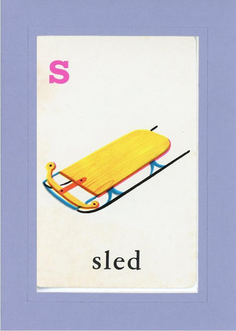 S is for Sled - PLYMOUTH CARD COMPANY  - 18