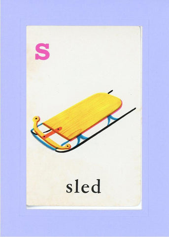 S is for Sled - PLYMOUTH CARD COMPANY  - 19