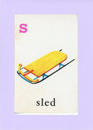 S is for Sled - PLYMOUTH CARD COMPANY  - 15